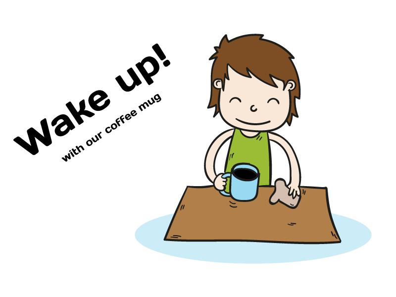 Wake up with Heat Sensitive Changing Color Mug!